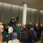 Публика на предавању у сали Машинског факултета